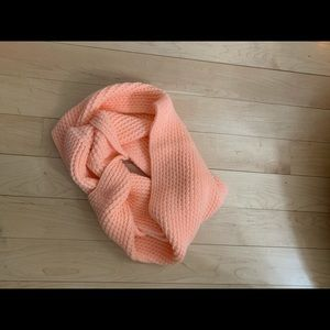 Accessories - salmon infinity knit scarf